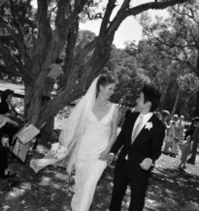 Happy wedding couple - wedding ceremony music